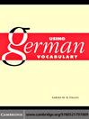 Using German Vocabulary (eBook)