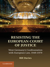 Resisting the European Court of Justice (eBook)