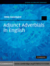 Adjunct Adverbials in English (eBook)