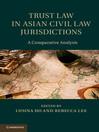 Trust Law in Asian Civil Law Jurisdictions (eBook)