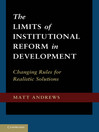 The Limits of Institutional Reform in Development (eBook)