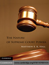 The Nature of Supreme Court Power (eBook)