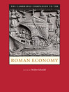 The Cambridge Companion to the Roman Economy (eBook)