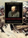 The Cambridge Companion to Dostoevskii (eBook)