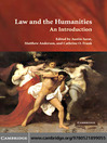 Law and the Humanities (eBook)