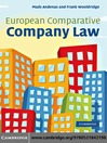 European Comparative Company Law (eBook)