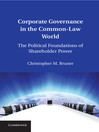 Corporate Governance in the Common-Law World  1 by Christopher M. Bruner eBook