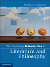 The Cambridge Introduction to Literature and Philosophy (eBook)
