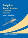 Analysis of Aircraft Structures (eBook)