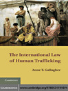 The International Law of Human Trafficking (eBook)