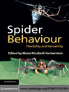 Spider Behaviour (eBook): Flexibility and Versatility