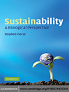 Sustainability (eBook): A Biological Perspective
