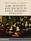 Law, Politics and Society in Early Modern England (eBook)