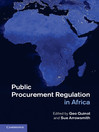 Public Procurement Regulation in Africa (eBook)