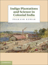 Indigo Plantations and Science in Colonial India (eBook)