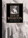 The Cambridge Companion to Edith Wharton (eBook)