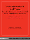 Non-Perturbative Field Theory (eBook): From Two Dimensional Conformal Field Theory to QCD in Four Dimensions