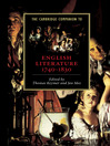 The Cambridge Companion to English Literature, 1740-1830 (eBook)