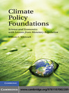 Climate Policy Foundations (eBook): Science and Economics with Lessons from Monetary Regulation