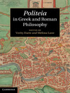 Politeia in Greek and Roman Philosophy (eBook)