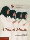 The Cambridge Companion to Choral Music (eBook)