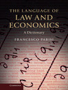 The Language of Law and Economics (eBook): A Dictionary