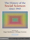 The History of the Social Sciences Since 1945 (eBook)