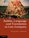 Rabbis, Language and Translation in Late Antiquity (eBook)
