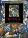 The Cambridge Companion to Kafka (eBook)