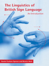 The Linguistics of British Sign Language (eBook): An Introduction