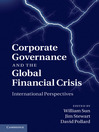 Corporate Governance and the Global Financial Crisis (eBook): International Perspectives