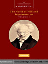 Schopenhauer (eBook): The World as Will and Representation