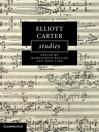 Elliott Carter Studies (eBook)