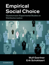 Empirical Social Choice (eBook)