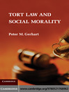 Tort Law and Social Morality (eBook)