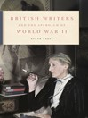 British Writers and the Approach of World War II (eBook)