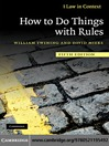 How to Do Things with Rules (eBook)