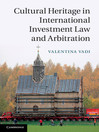 Cultural Heritage in International Investment Law and Arbitration (eBook)