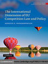 The International Dimension of EU Competition Law and Policy (eBook)