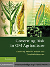 Governing Risk in GM Agriculture (eBook)