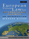 European Union Law for International Business (eBook): An Introduction