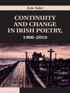 Continuity and Change in Irish Poetry, 1966-2010 (eBook)