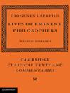 Diogenes Laertius (eBook): Cambridge Classical Texts and Commentaries Series, Book 50