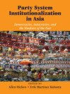 Party System Institutionalization in Asia (eBook): Democracies, Autocracies, and the Shadows of the Past