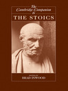 The Cambridge Companion to the Stoics (eBook)