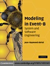 Modeling in Event-B (eBook): System and Software Engineering