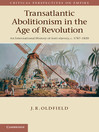 Transatlantic Abolitionism in the Age of Revolution (eBook)
