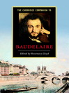 The Cambridge Companion to Baudelaire (eBook)