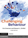 Challenging Behaviour (eBook)