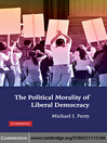 The Political Morality of Liberal Democracy (eBook)